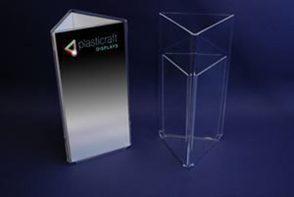 Picture of 1/3 A4 Triangular Freestanding Menu Holder