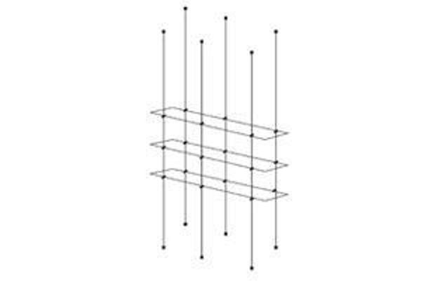 Picture of 1000 x 195 x 5 Tripple Cable Shelf Window Display kit