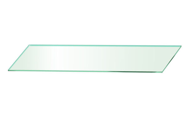 Picture of 1500 x 195 x 5mm Glass Look Acrylic Shelf