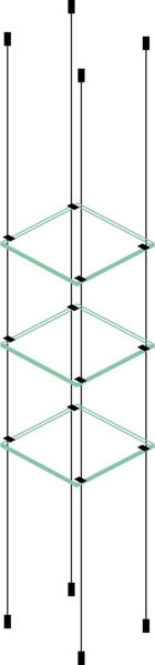 Picture of 3 x 280 x 280 x 6mm Cable Shelf Window Display Glass Look