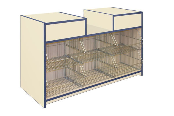 Picture of 300 Series Convenience Counter with Crisp Baskets 1500mm (J3-CNVSLD15)