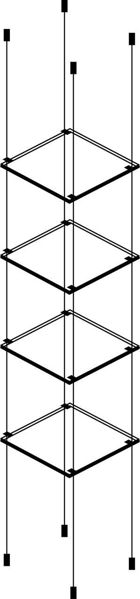 Picture of 4 x 280 x 280 x 6mm Cable Shelf Window Display Kit