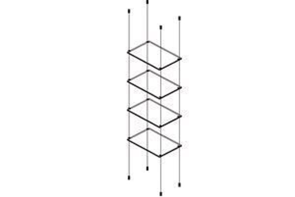 Picture of 4 x 595 x 280 x 6mm Cable Shelf Window Display