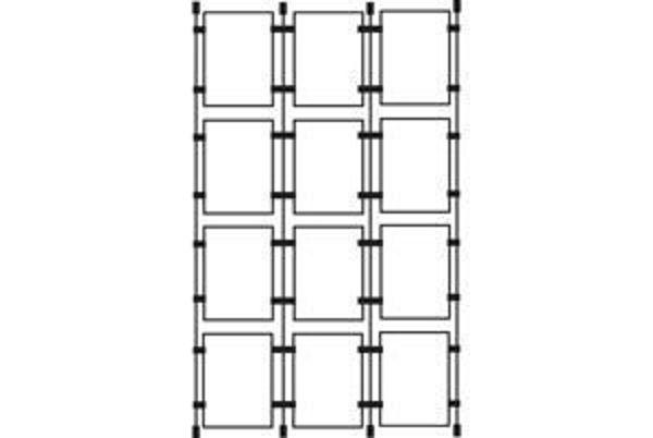 Picture of 4 x A3 Portrait Cable Pockets x 3 Kit