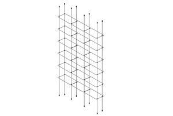 Picture of 6 x Tripple 300 x 150 x 4mm Cable Shelf Window Display Kit