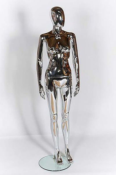 Picture of Full Body female Mannequin - chrome -window display - Removable parts (R309)