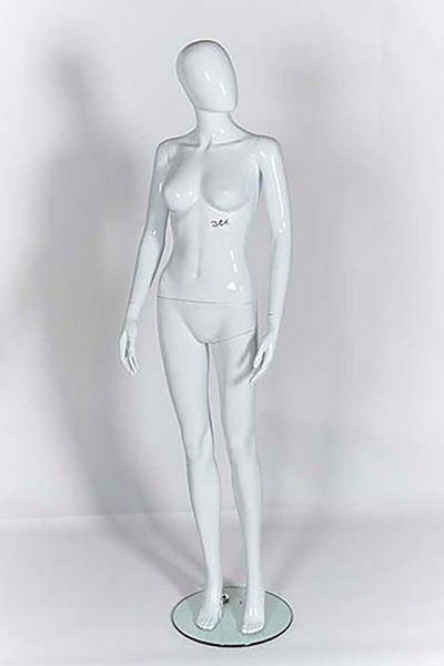 Picture of Full Body female Mannequin - Gloss White - egg Head - window display (R306)