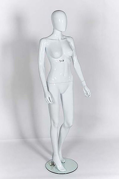 Picture of Full Body female Mannequin -Gloss Black -window display - Removable parts (R308)