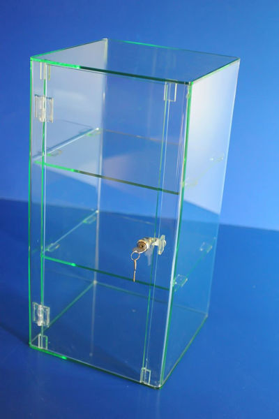 Picture of Glass Effect Lockable Display Cabinet 600 x 300 x 300