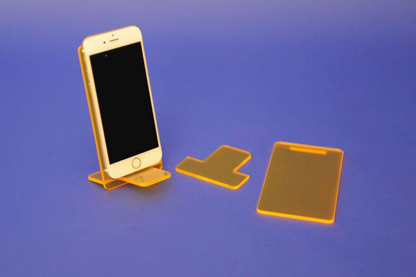 Picture of Large Flat Pack Neon Phone Stand Orange