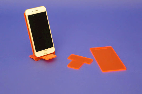 Picture of Large Flat Pack Neon Phone Stand Red