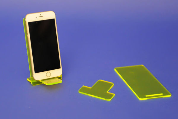 Picture of Large Flat Pack Neon Phone Stand Yellow