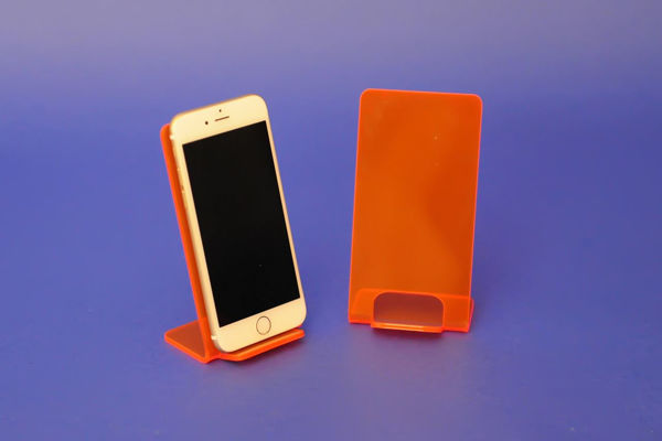 Picture of Large Neon Phone Stand Red