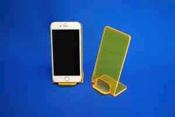 Picture of Large Neon Phone Stand Yellow