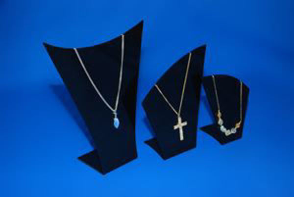 Picture of Set of 3 Black Necklace Display Stands/Busts