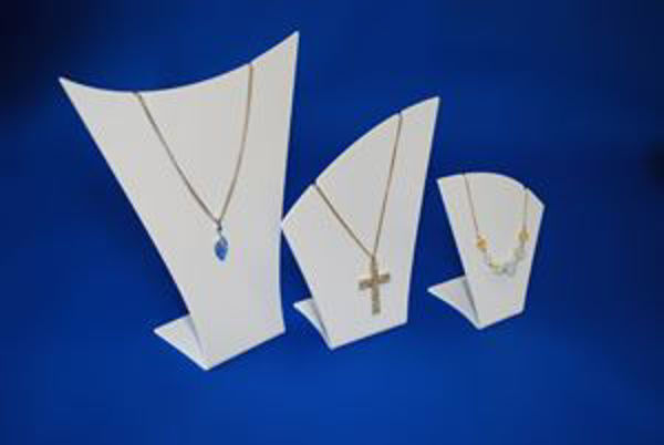 Picture of Set of 3 White Necklace Display Stands/Busts