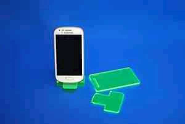 Picture of Small Flat Pack Neon Phone Stand Green
