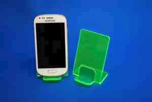 Picture of Small Neon Phone Stand Green