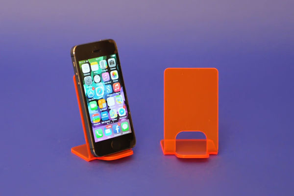 Picture of Small Neon Phone Stand Red