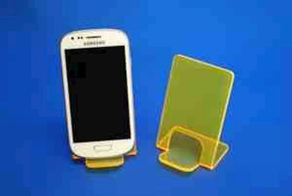Picture of Small Neon Phone Stand Yellow