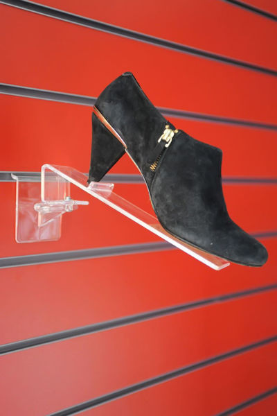 Picture of Swivel Slatwall Shoe Display with Heel Stopper