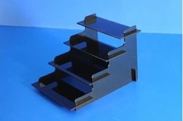 Picture of Black Freestanding Flat Packed Display Stand