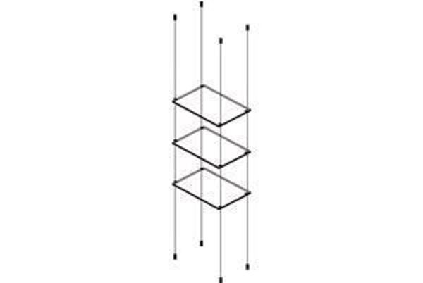 Picture of 3 x 595 x 280 x 6mm Cable Shelf Window Display Kit